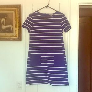 Royal blue GAP dress, stripes, fitted